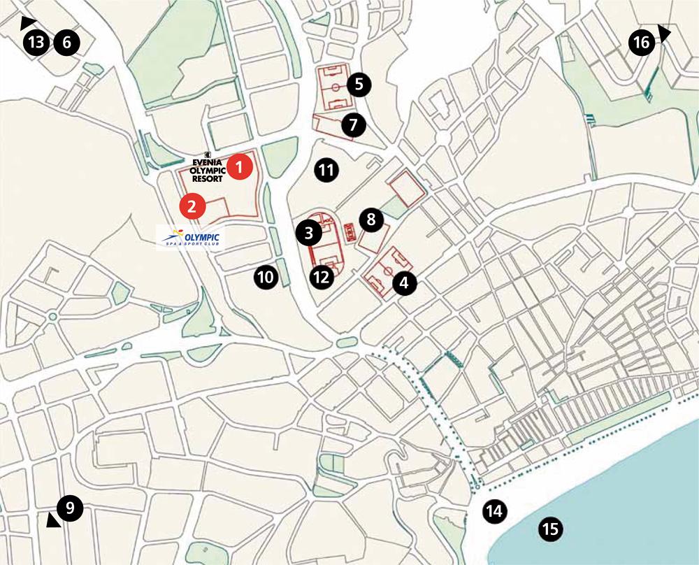 mapa instalaciones deportivas de lloret de mar